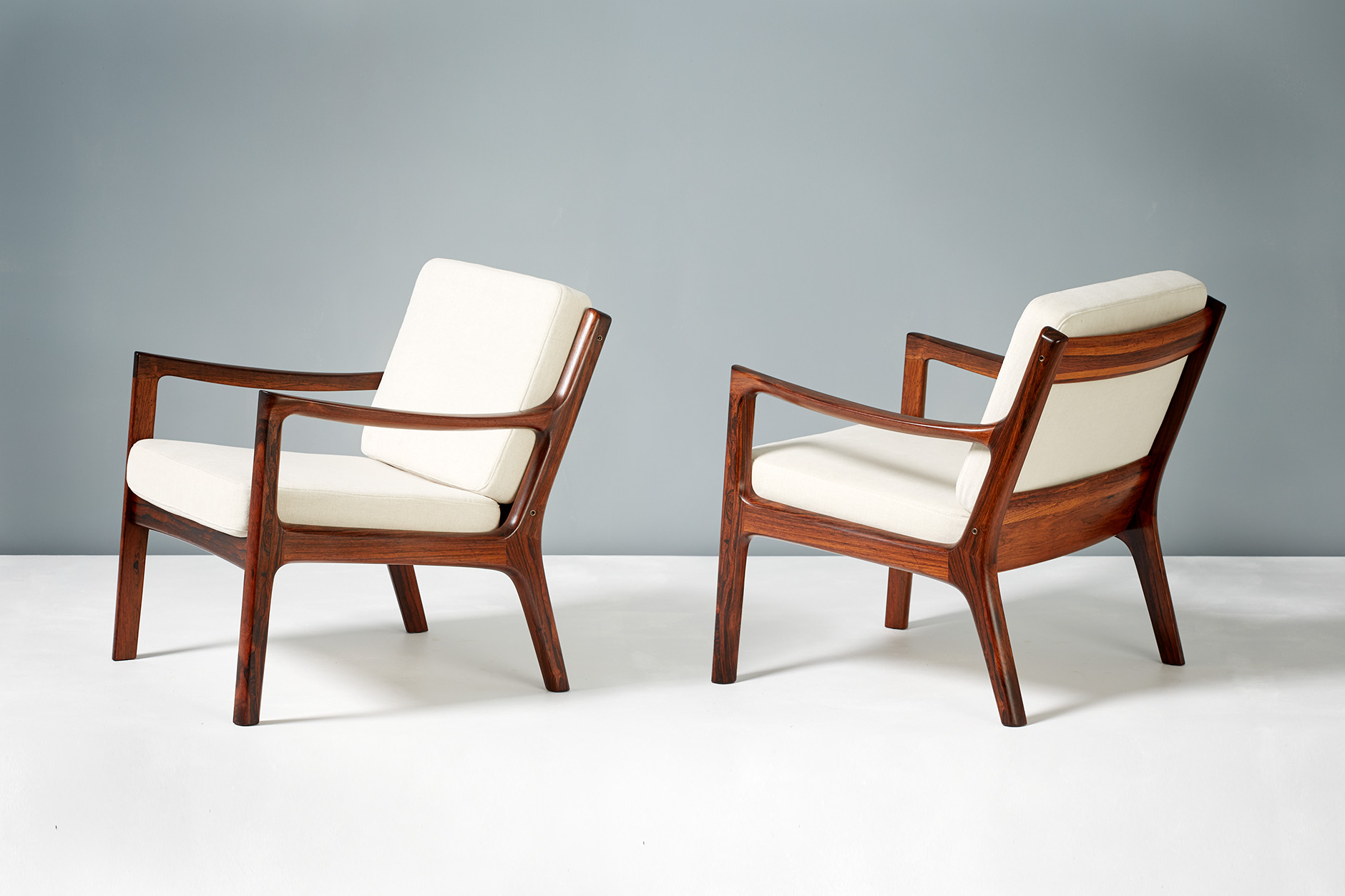 Ole Wanscher  Senator Lounge chairs, Rosewood