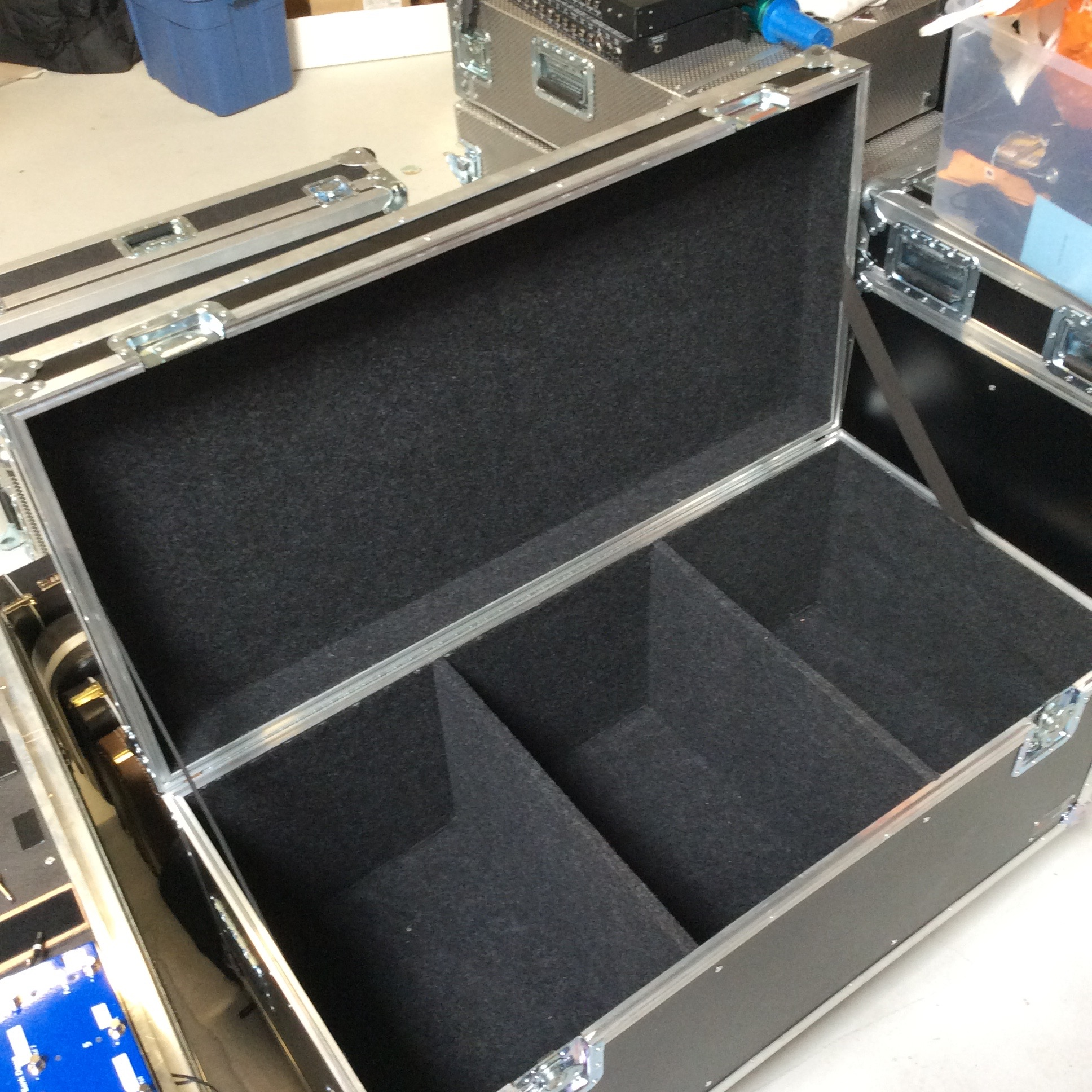 """Large Cable Case  Make: Engineered Case Manufacturers  Dimensions: 47.25"""" X 23.25"""" X 20""""  Notes: 6"""" Castors"""