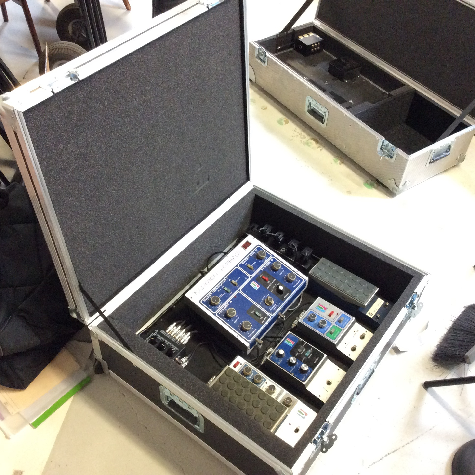 """Pedal Flight Case Square  Make: Clydesdale Custom Case Co.  Dimensions: 33"""" X 28.25"""" X 11""""  Notes:"""