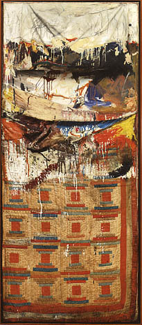 Robert Rauschenberg   Bed   1955   mixed mediums, ca. 75 x 32 x 8 in.   Museum of Modern Art