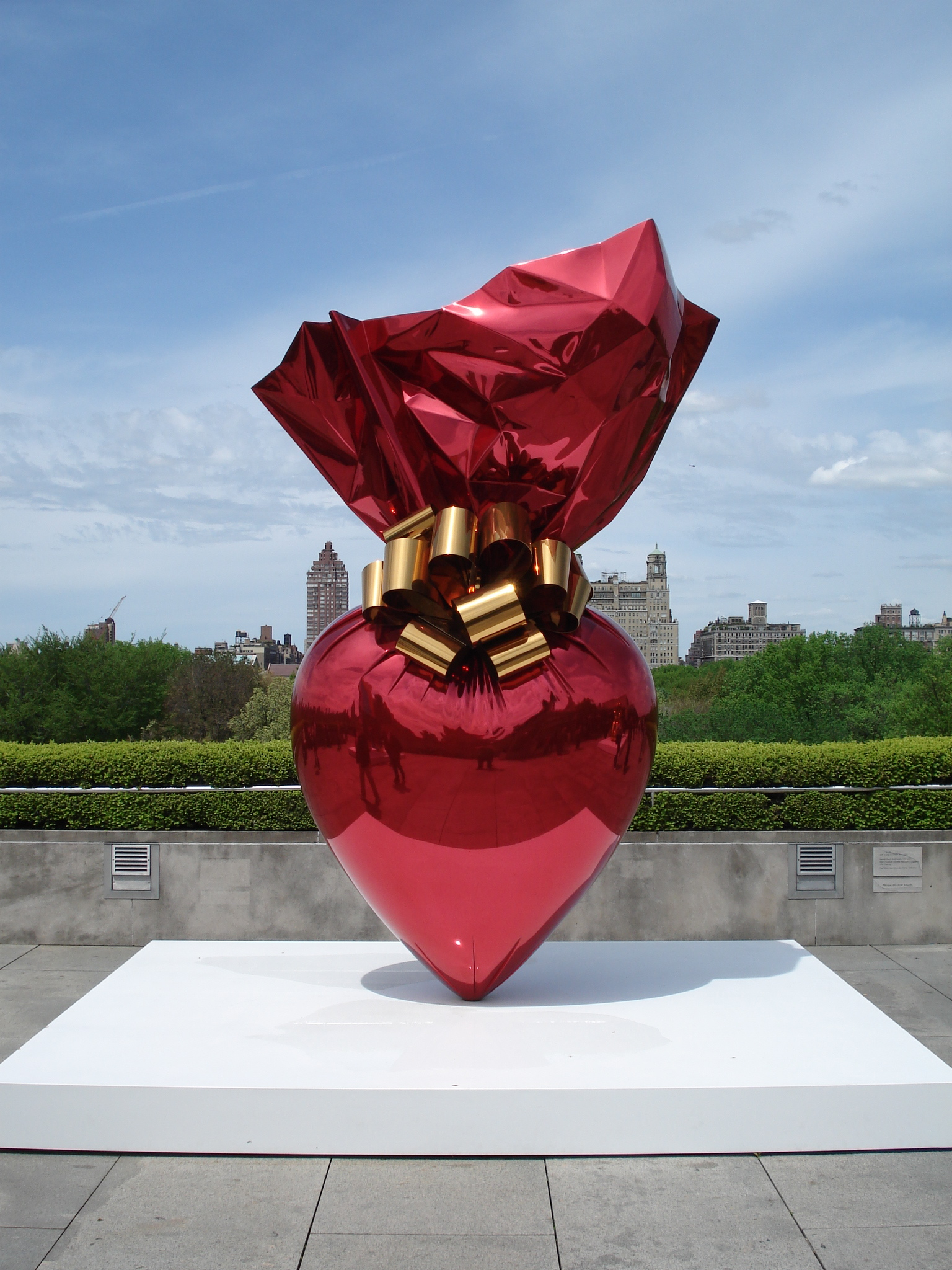 Sacred Heart (Red & Gold) by Jeff Koons