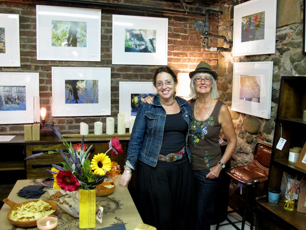 Suzanne O'Brien & Laurie Peek at Laurie's opening