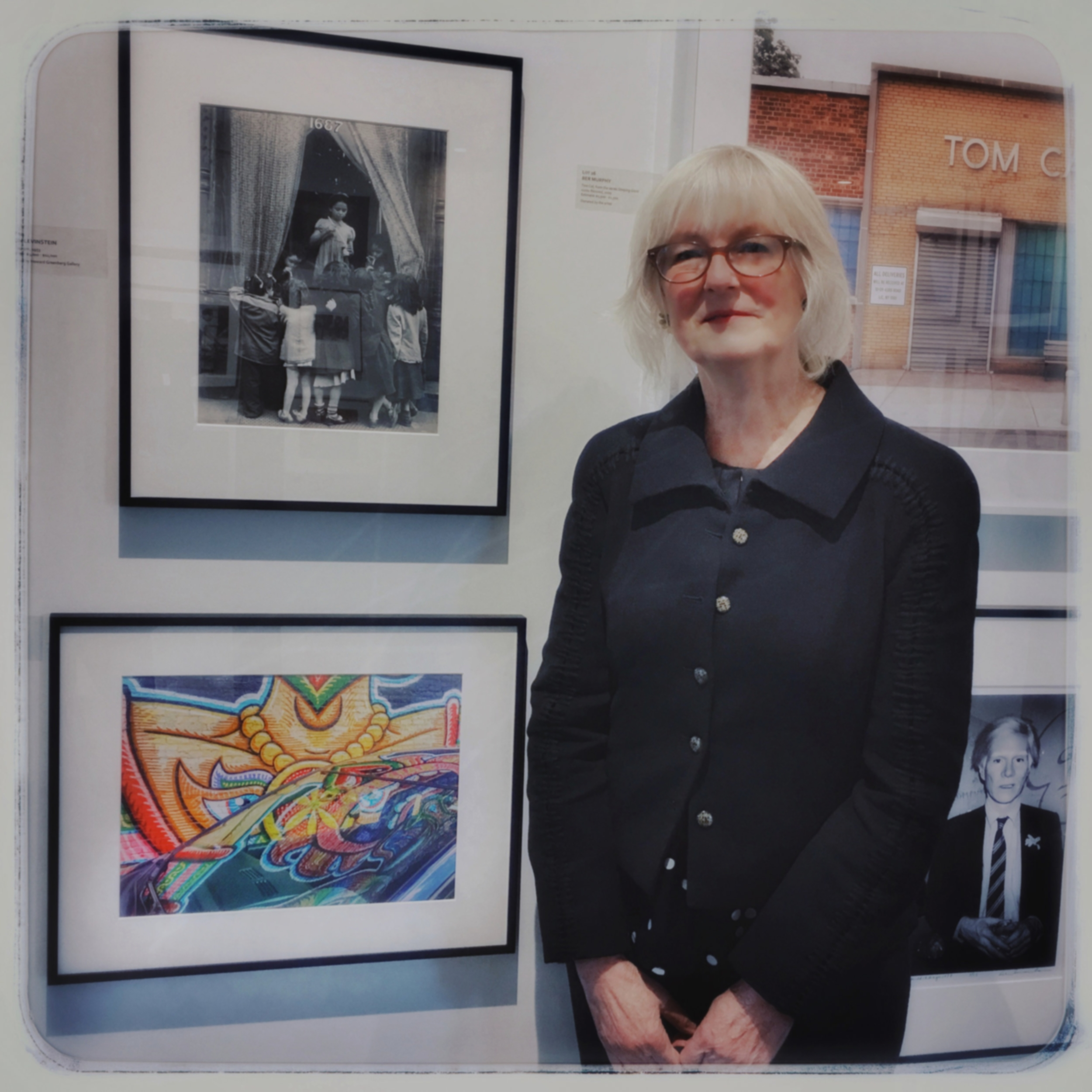 "With my ""Eyes Necklace on Nissan"" photograph. In such good company!"