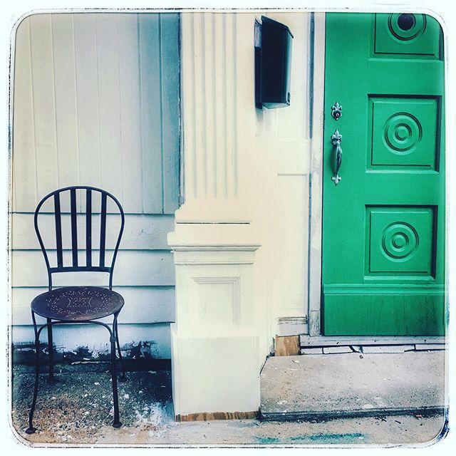 Wondering what's behind the green door.