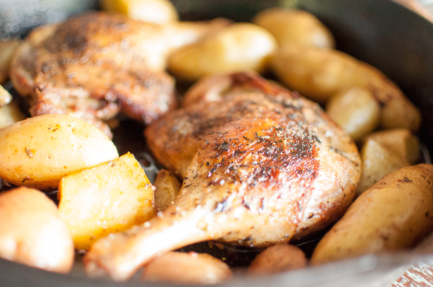 Duck Confit with Roasted Fingerling Potatoes | Kitchen Lush