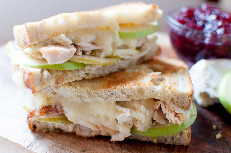 turkey brie and apple melt | kitchen lush