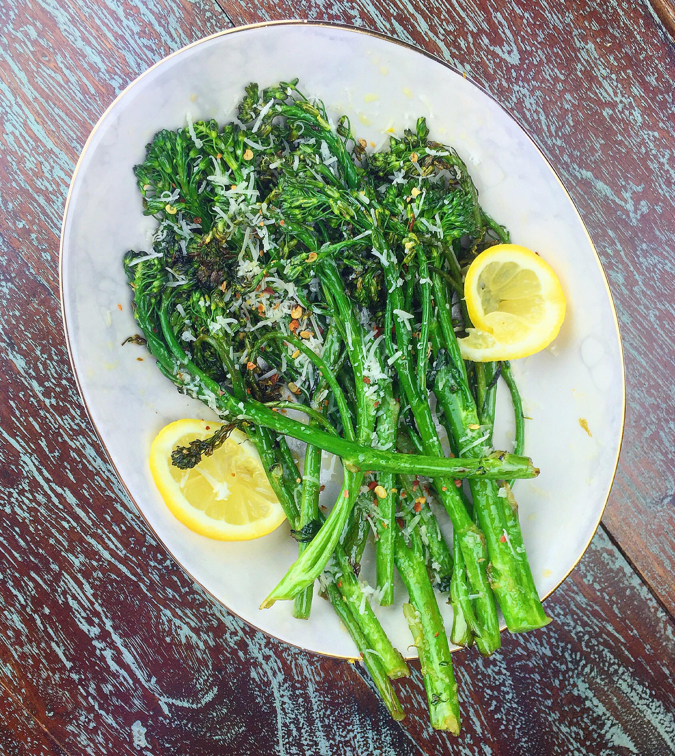 cacio e pepe style broccolini | kitchen lush