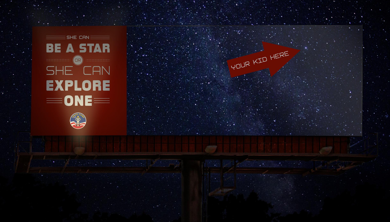Outdoor Billboards light up the night sky.