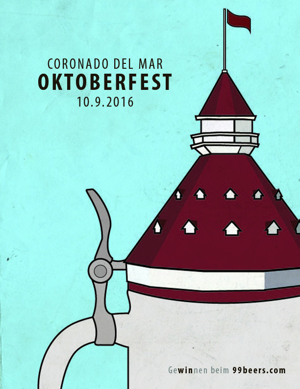 Oktoberfest: Del Mar  is one of a series of posters that highlight the many local events held around the city