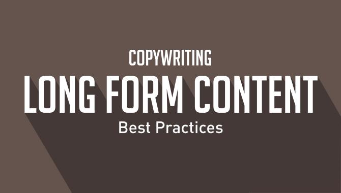 Long Form Content Copywriting