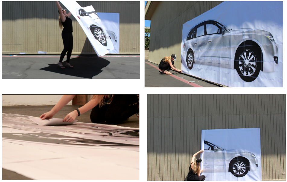 """Liz built a """"full size car"""" from multiple printouts for authenticity."""