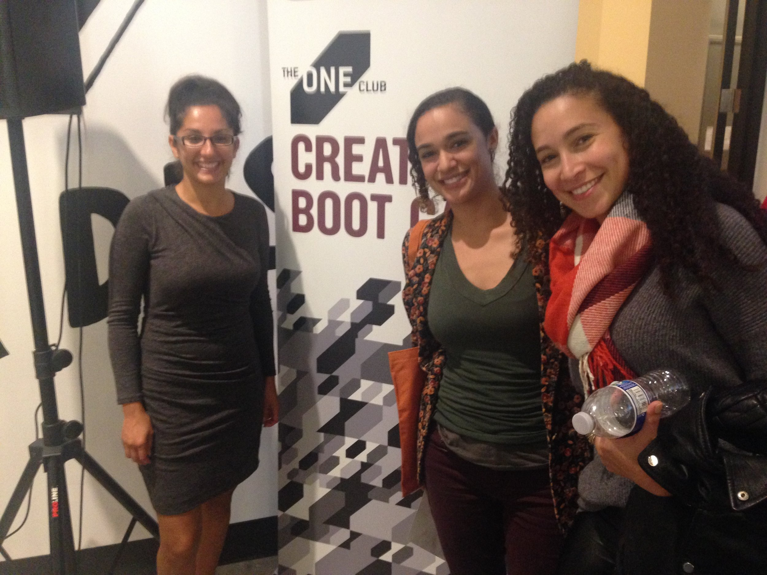 Yasmeen and Oriana with Leila Moussaoui, Art Director from Intel (right).