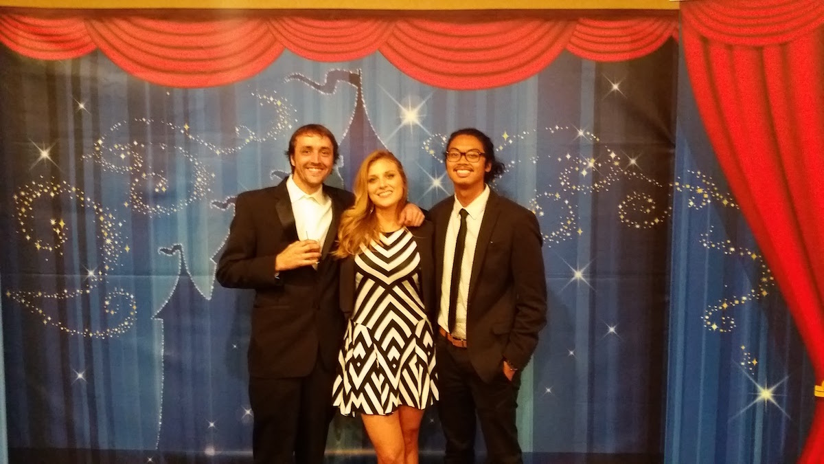 Ryan Renquist, Brooke Lingenfelder and Rodney Manabat at the National ADDY competition in Anaheim