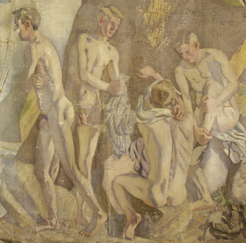 Gold Medal painting - Naked Young Men on the Beach (1919)
