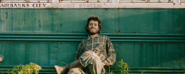 Photo of Christopher McCandless in Alaska.