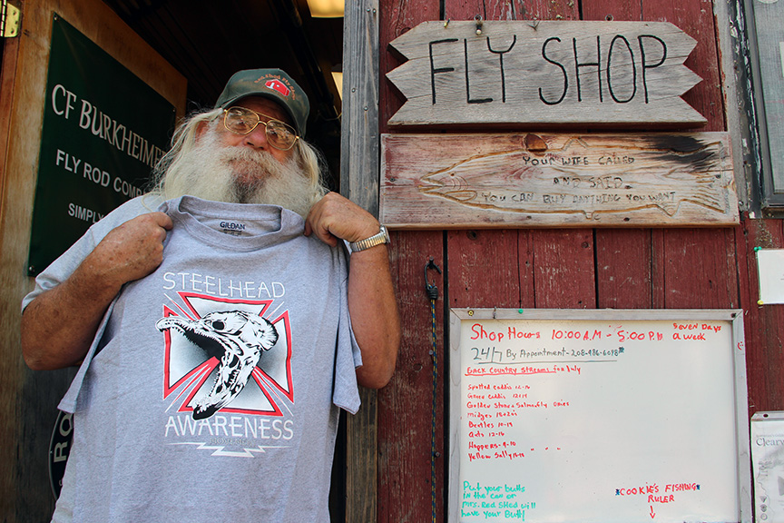 Every good steelhead trip should start with a stop at the Red Shed! As a steelhead bum, going to see Poppy at the Red Shed is like Luke going to see Yoda in the Degoba System. Except when you leave the Red Shed on your quest for chrome, Poppy doesn't say: may the force be with you, he says: tell em you came to see the fat man!