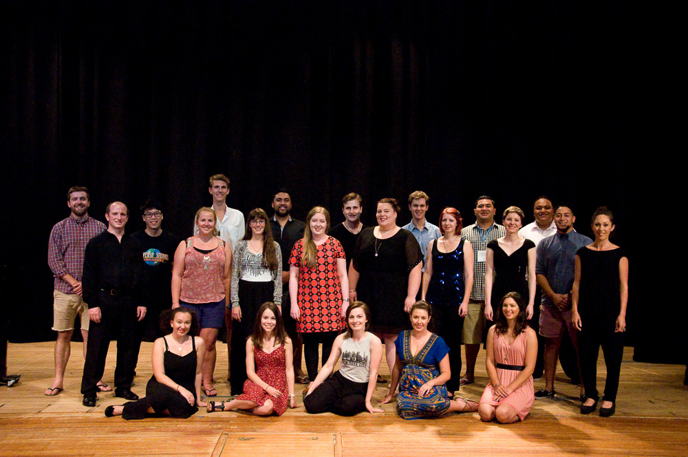 Students of the 2015 New Zealand Opera School