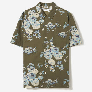 41aea93eef164b 20673_Universal_Works_Road_Shirt_Cotton_Poplin_Olive_Green_Floral_1.jpg. Universal  Works Road Shirt in Olive Floral