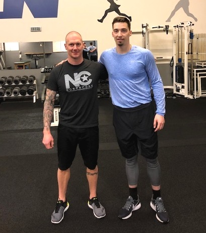 Blake Snell, taking a quick workout break.  Tampa Bay Rays Pitcher. 2018 AL Cy Young Winner.