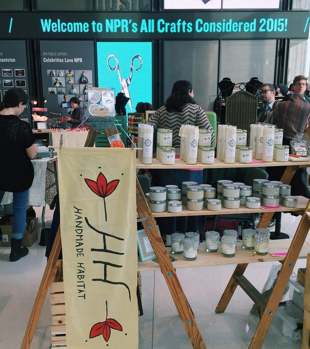 HH at NPR's All Crafts Considered Nov 2015