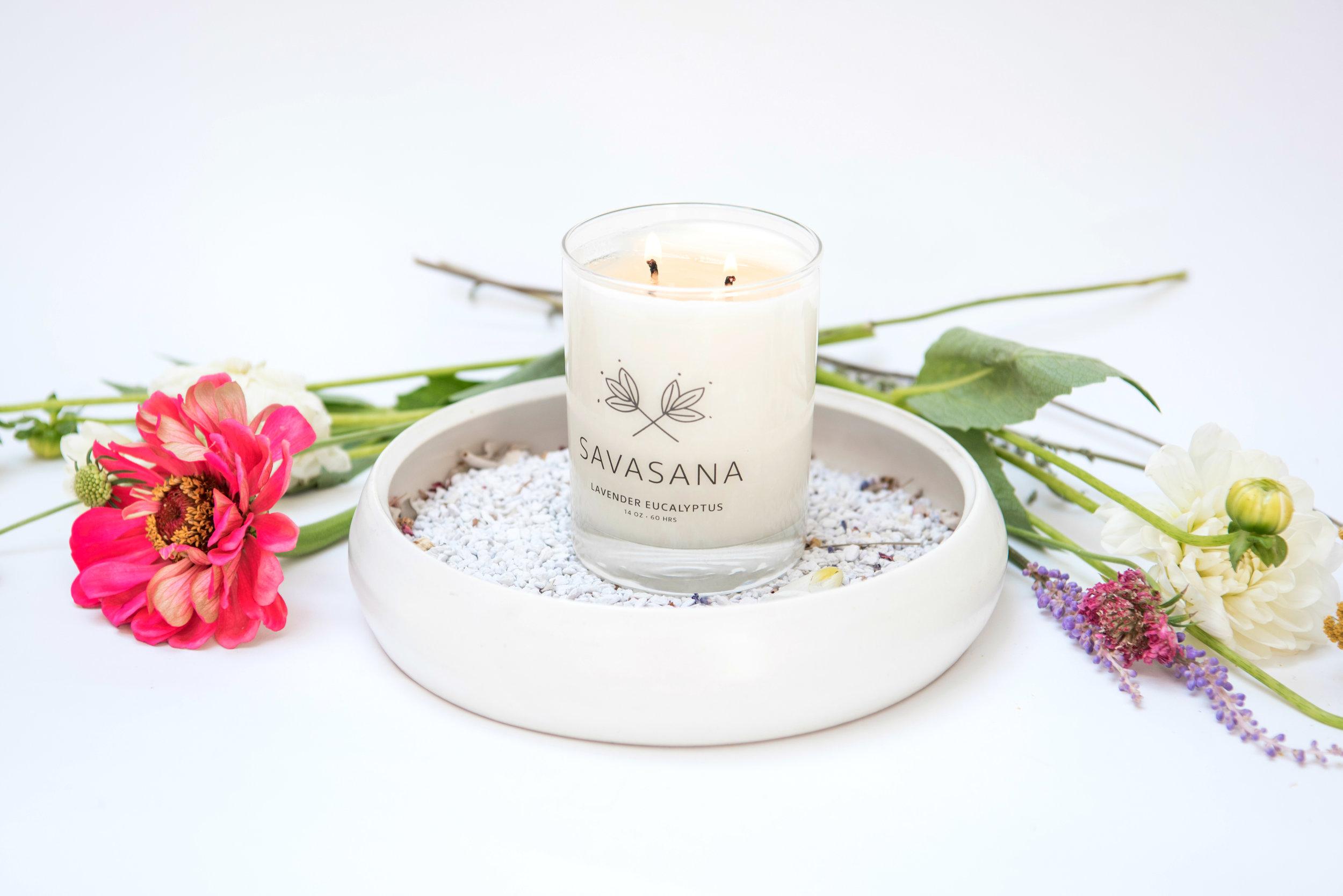 Savasana Yogi Candle