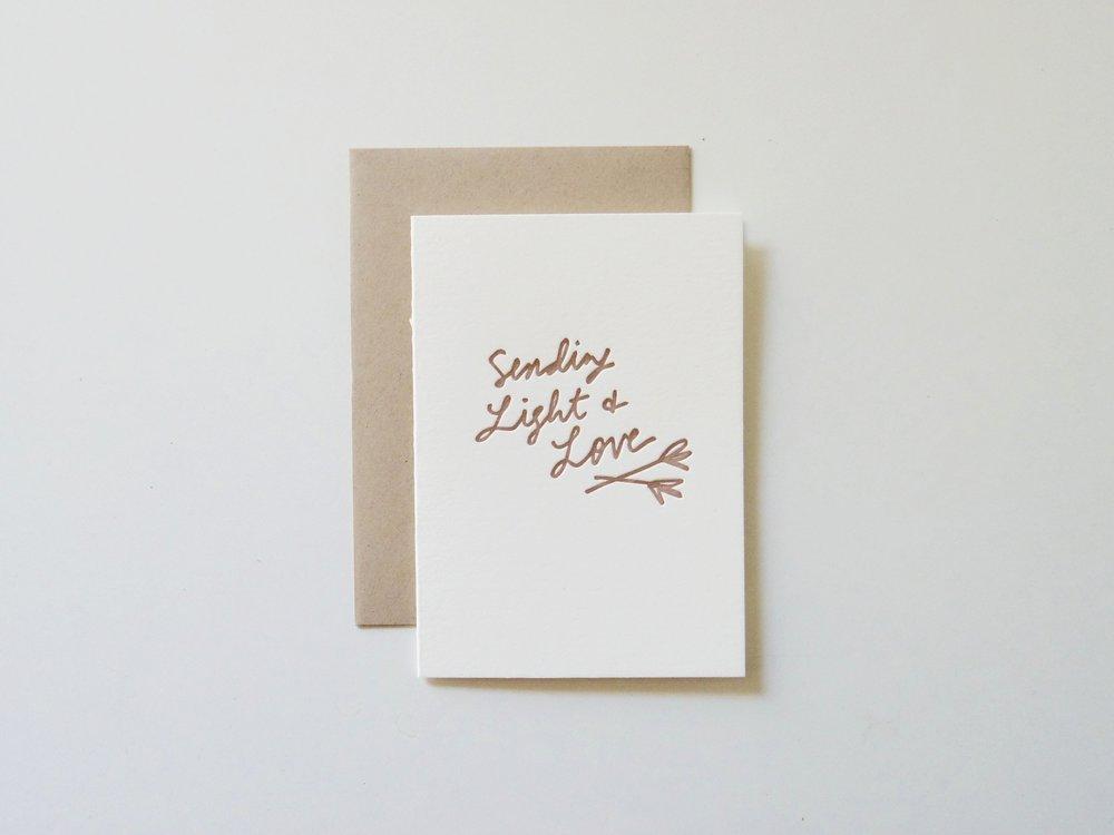 Sending Light and Love Card