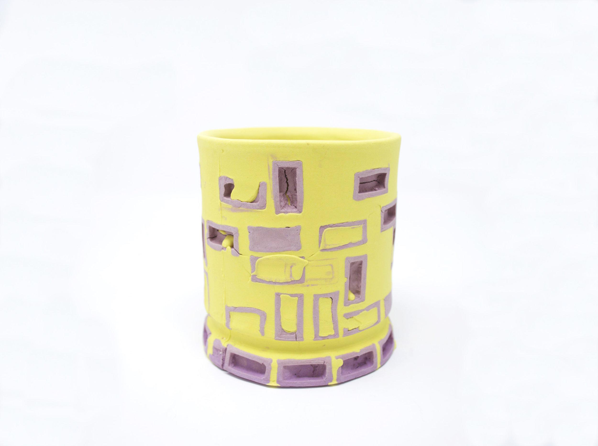 Mini-Brickware Cup (Purple & Yellow)