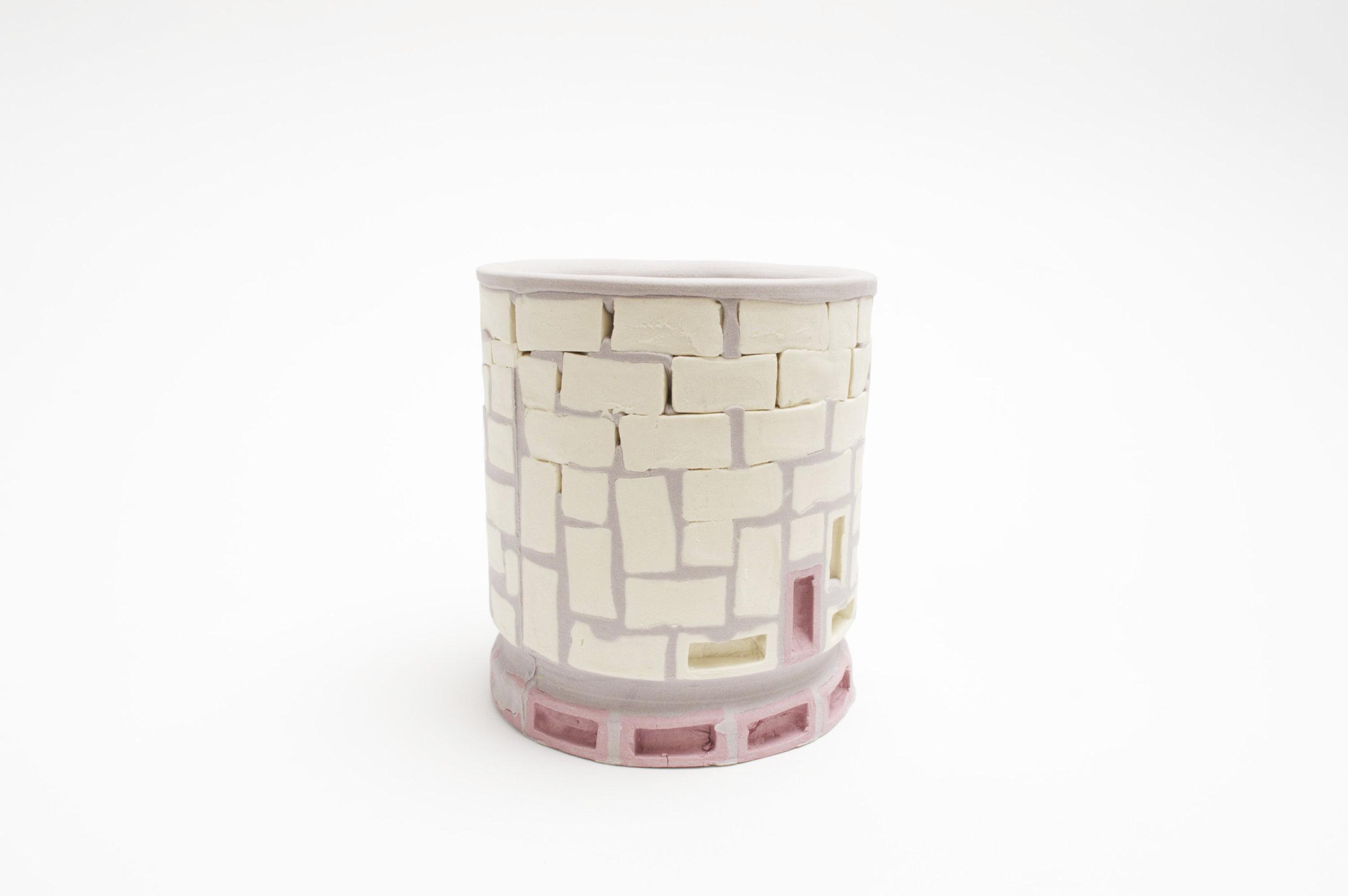 Mini-Brickware Cup (White-Lavender-Purple)