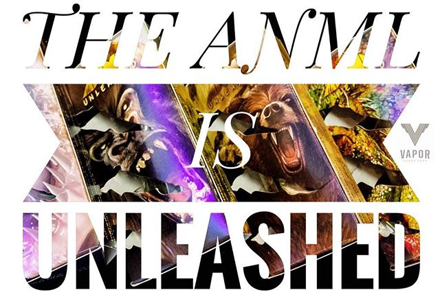 We are excited to have the whole new line from @anmlvapors UNLEASHED here @vaporsf  Four new unique flavors with the level of consistency you expect from ANML. Come check 'em out!