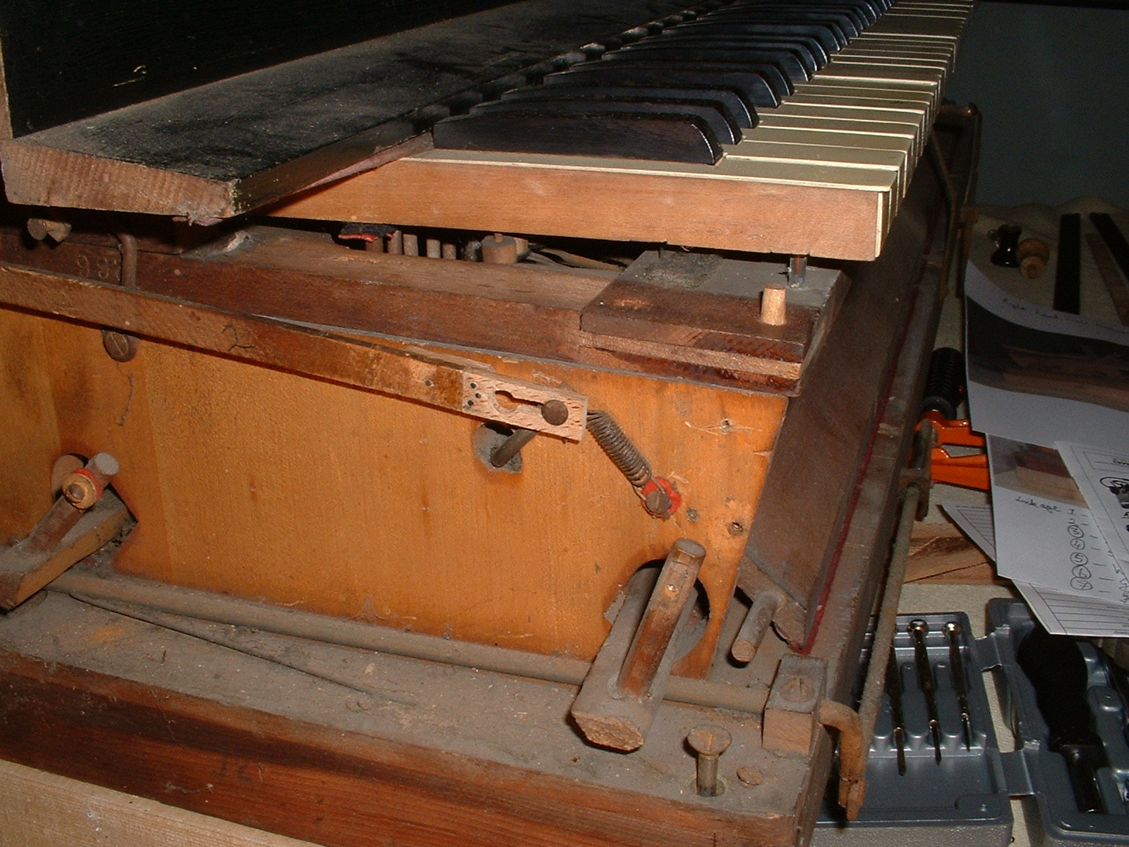 Sub-bass linkage repaired and reinstated