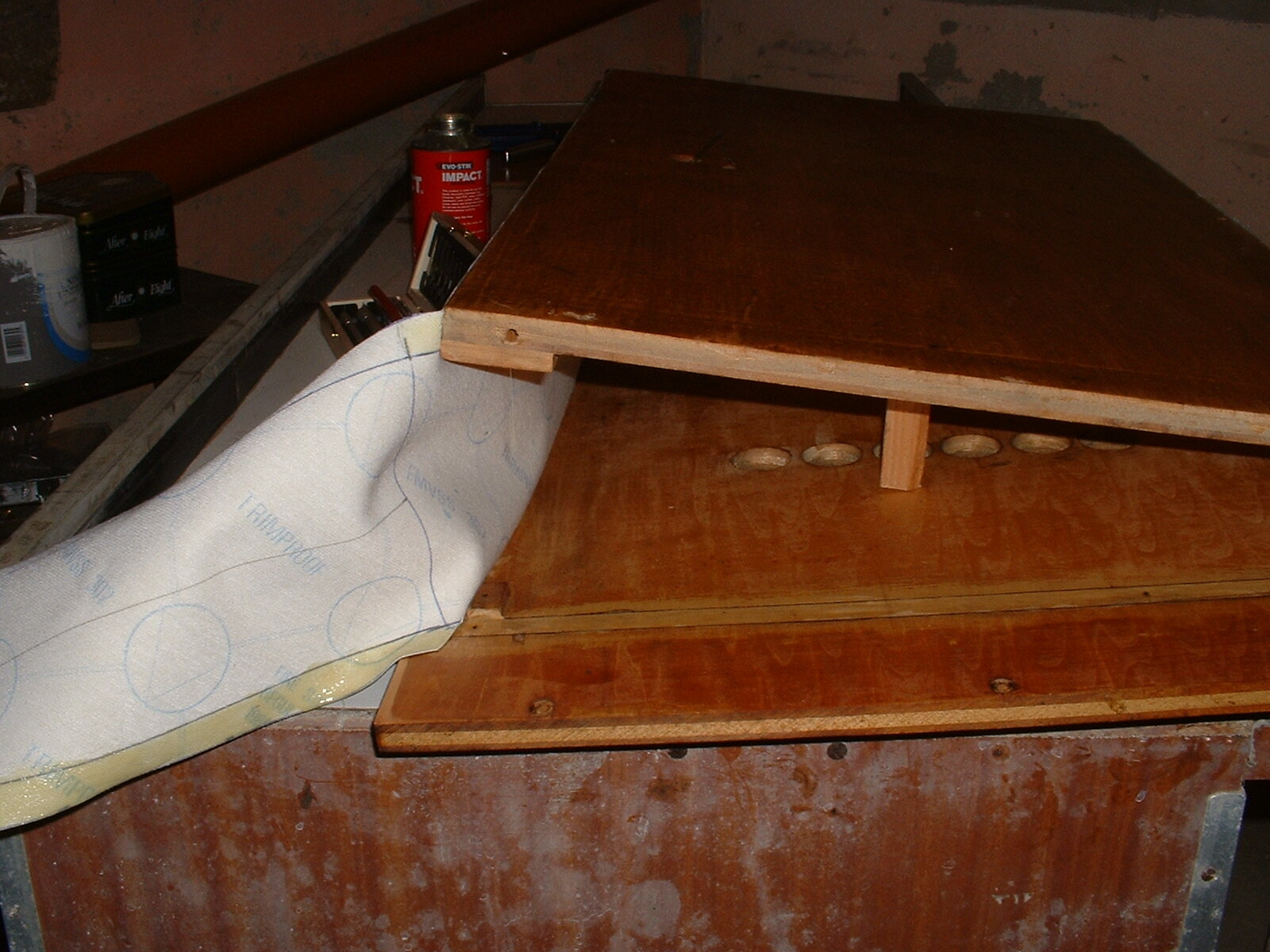 I used leatherette and impact adhesive for the bellows. Do NOT use either of these