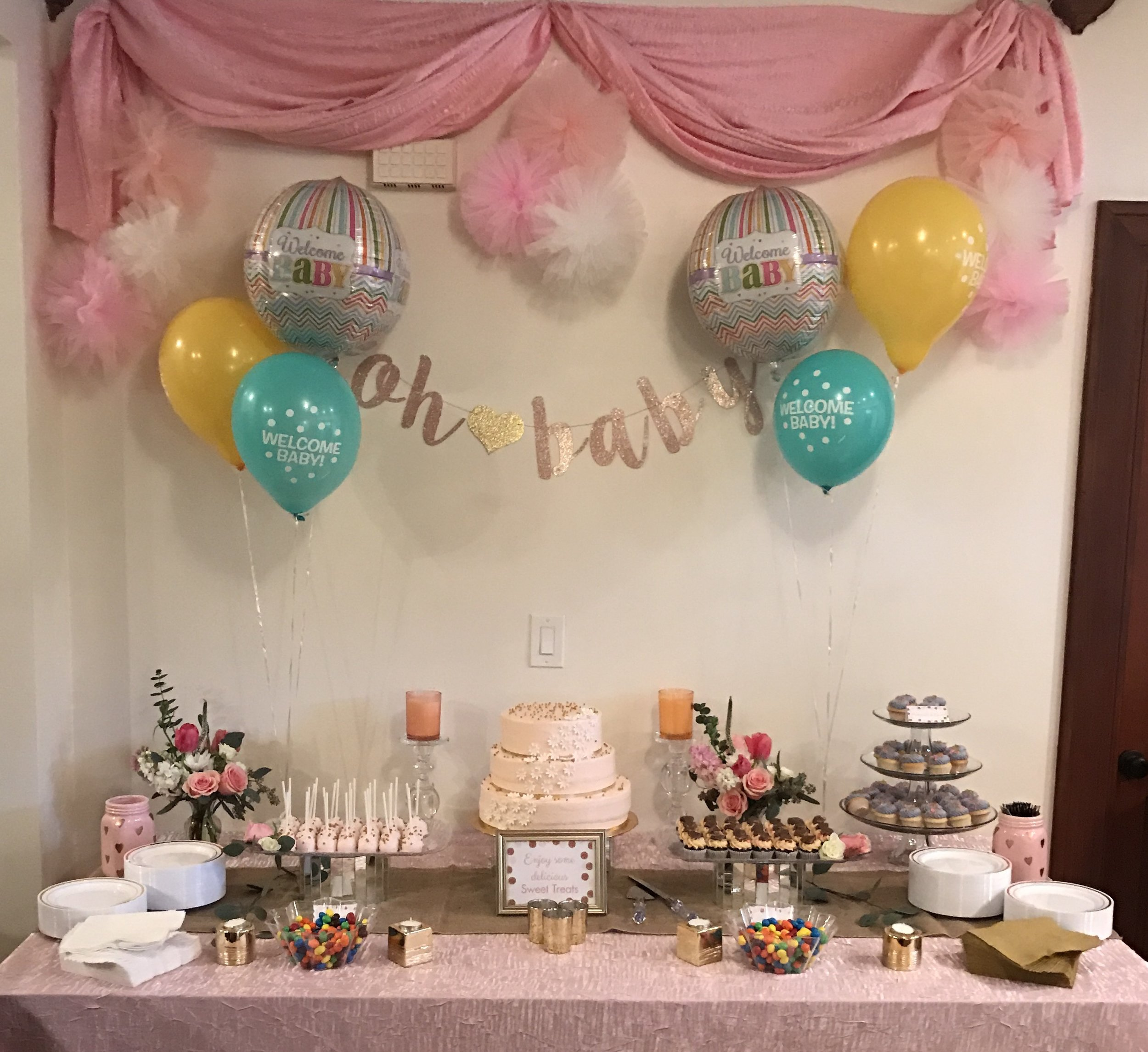Baby Shower   Bakery: Bubba Sweets (Huntington Beach)  Florals: Beautiful Savage Flowers (Costa Mesa)   Crescent  Package: Partial Planning, & Coordination