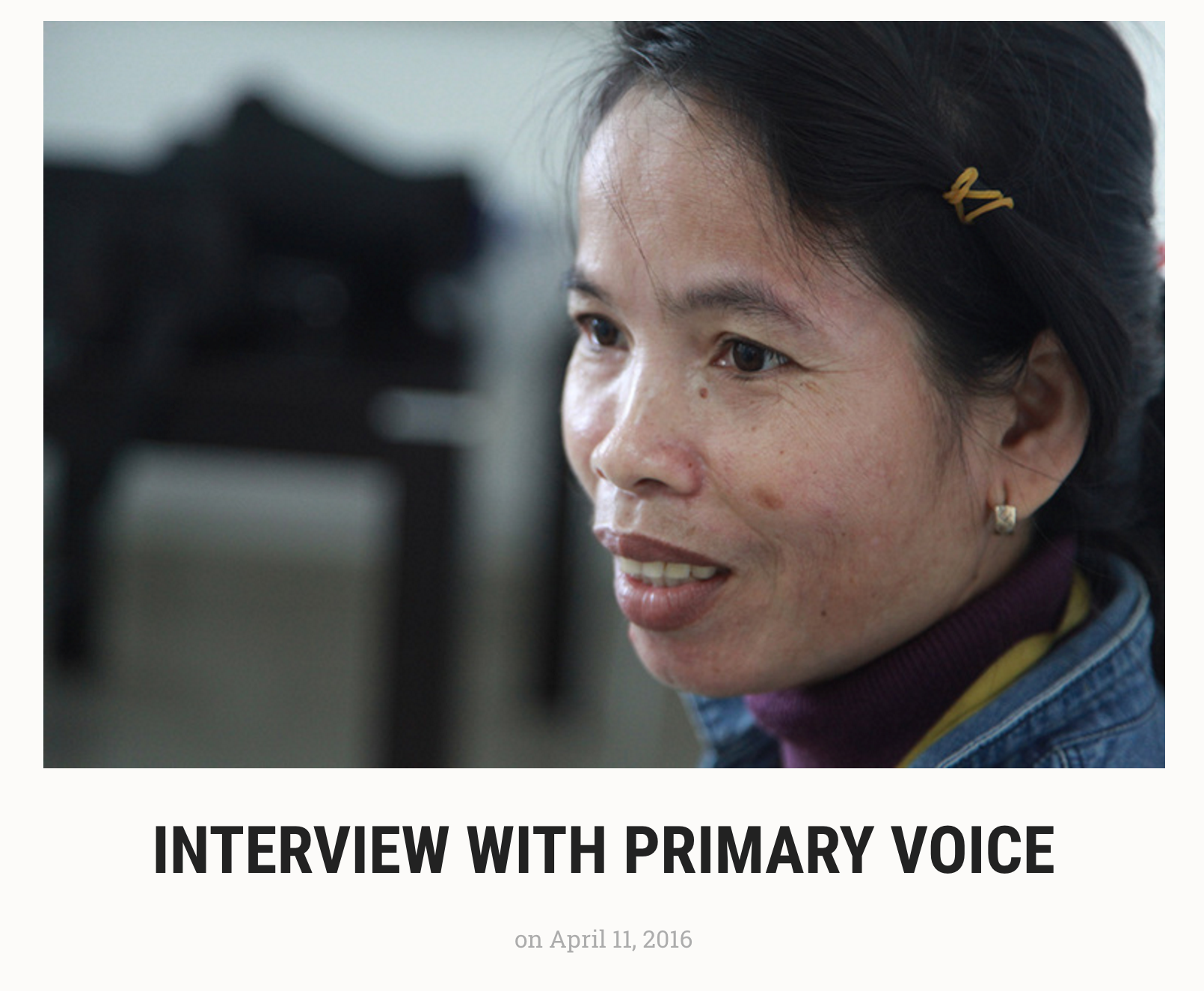 INTERVIEW WITH PRIMARY VOICE - The Green Diary .png