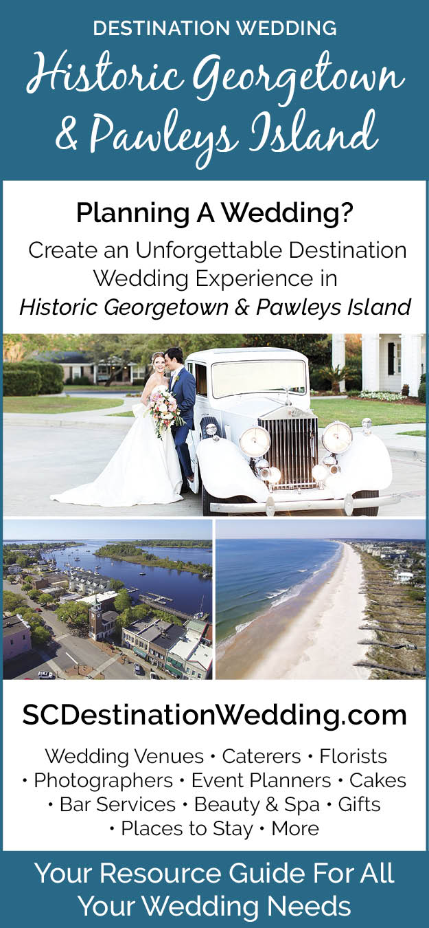 A wedding resource guide for the pawleys island / georgetown area.  SCDestinationweddings.com