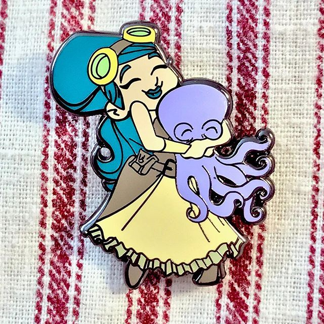 Victoria, close up! This pin will be part of a 2 pin set.  Designed by @briankesinger.