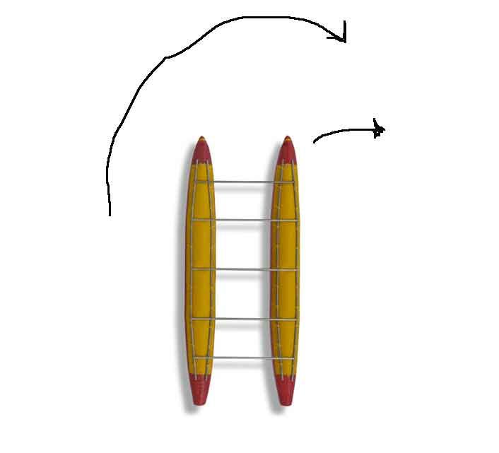 Если колется один из передних, то катамаран делает полицейский разворот, чтобы спрятаться за камнем или причалить у берега и течение не унесло вниз