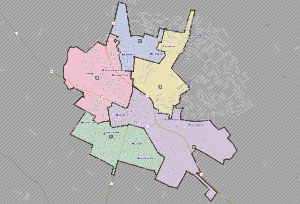 Salinas City Elementary School District Boundaries ( Click here for maps )