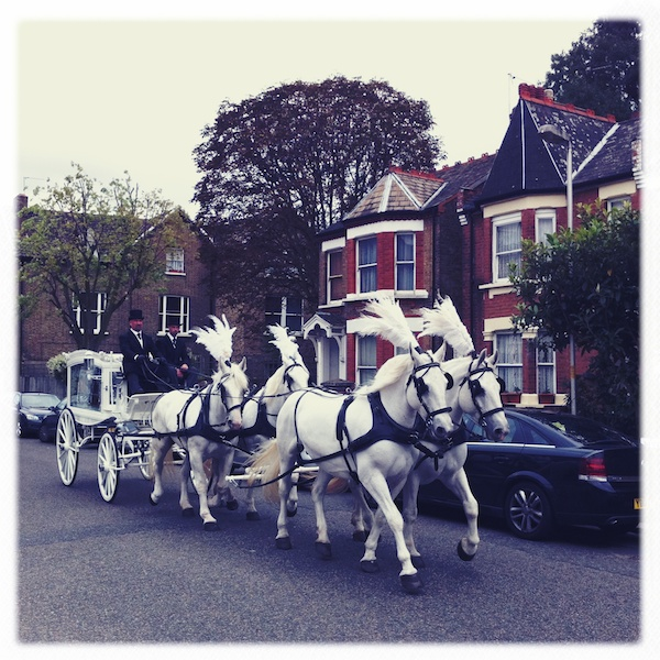 Victorian funeral horse and cart