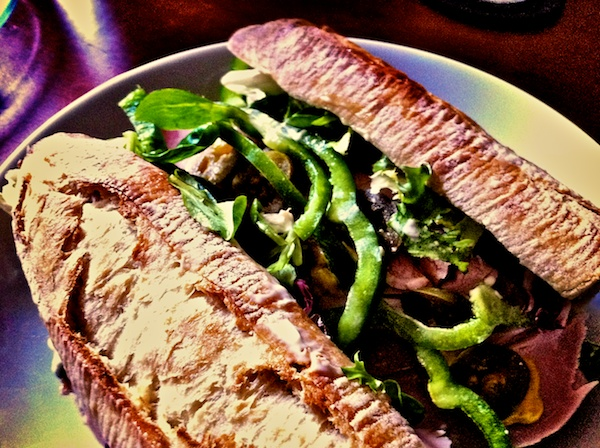 Delicious not-a-hoagie.