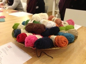 Bowl of crochet cotton at The Make Lounge