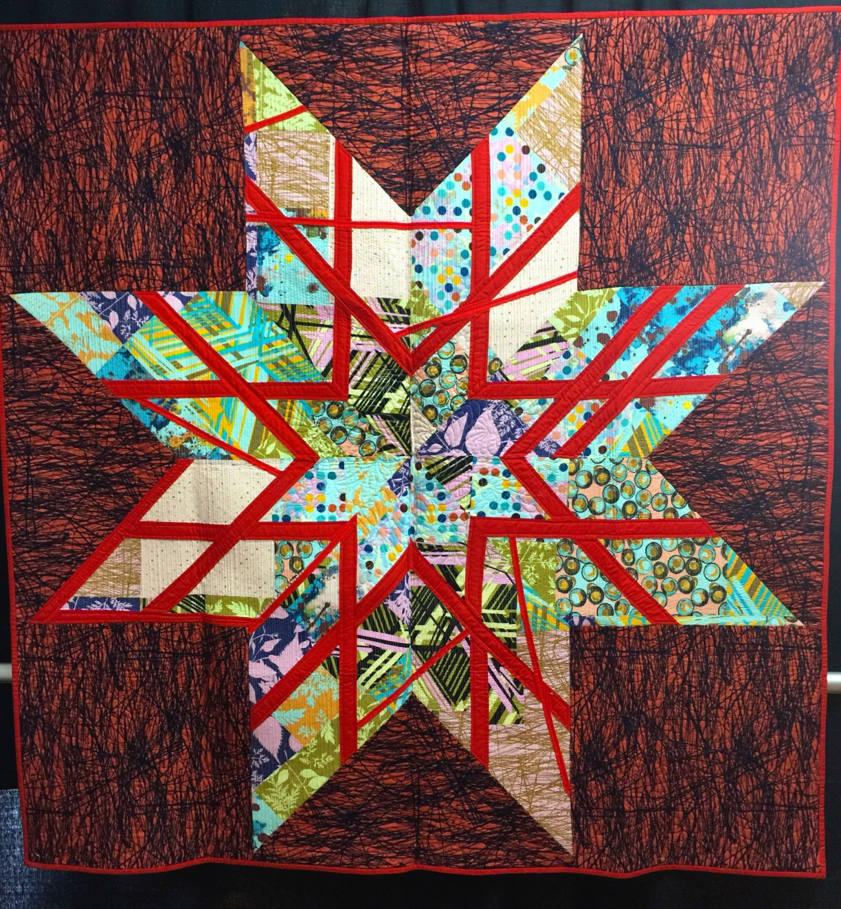 J Rock Star quilt by Victoria Findlay-Wolfe