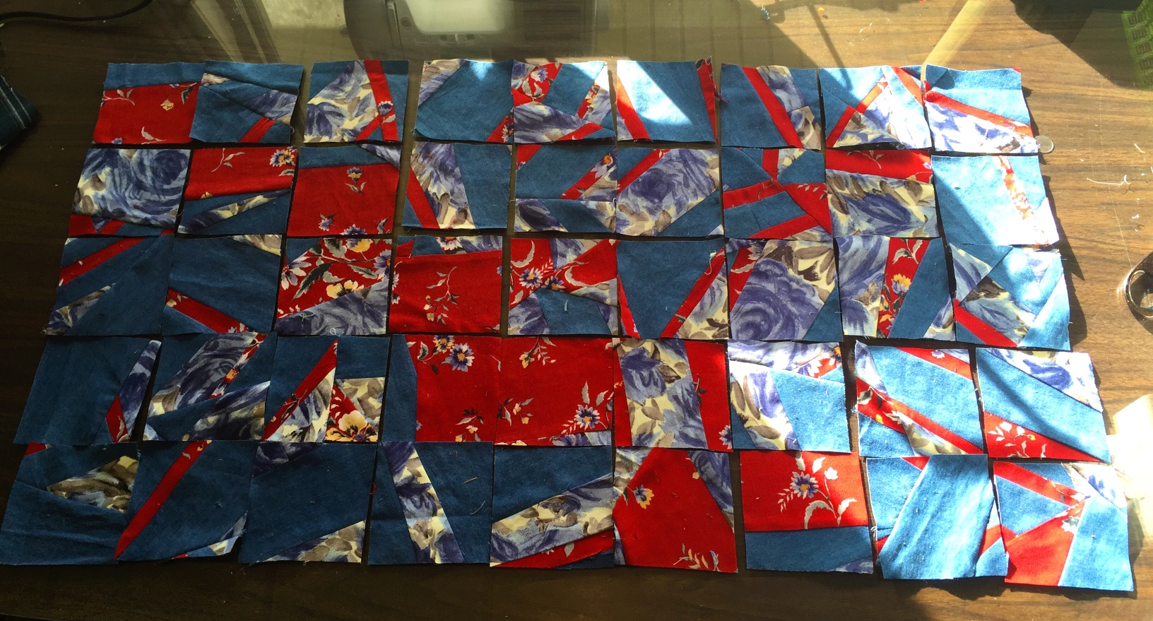 My Cinderella blocks, ready to be joined together into a fabulous quilt.