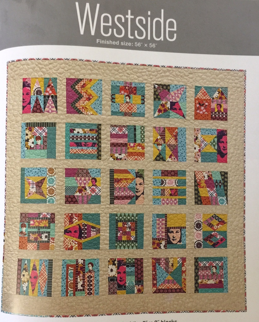 I am doing the Westside quilt which uses all of the eight inch blocks in the book.