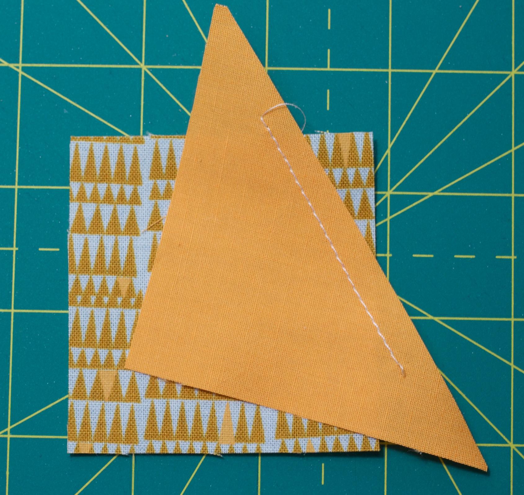 Step 3: sew a 1/4 inch seam