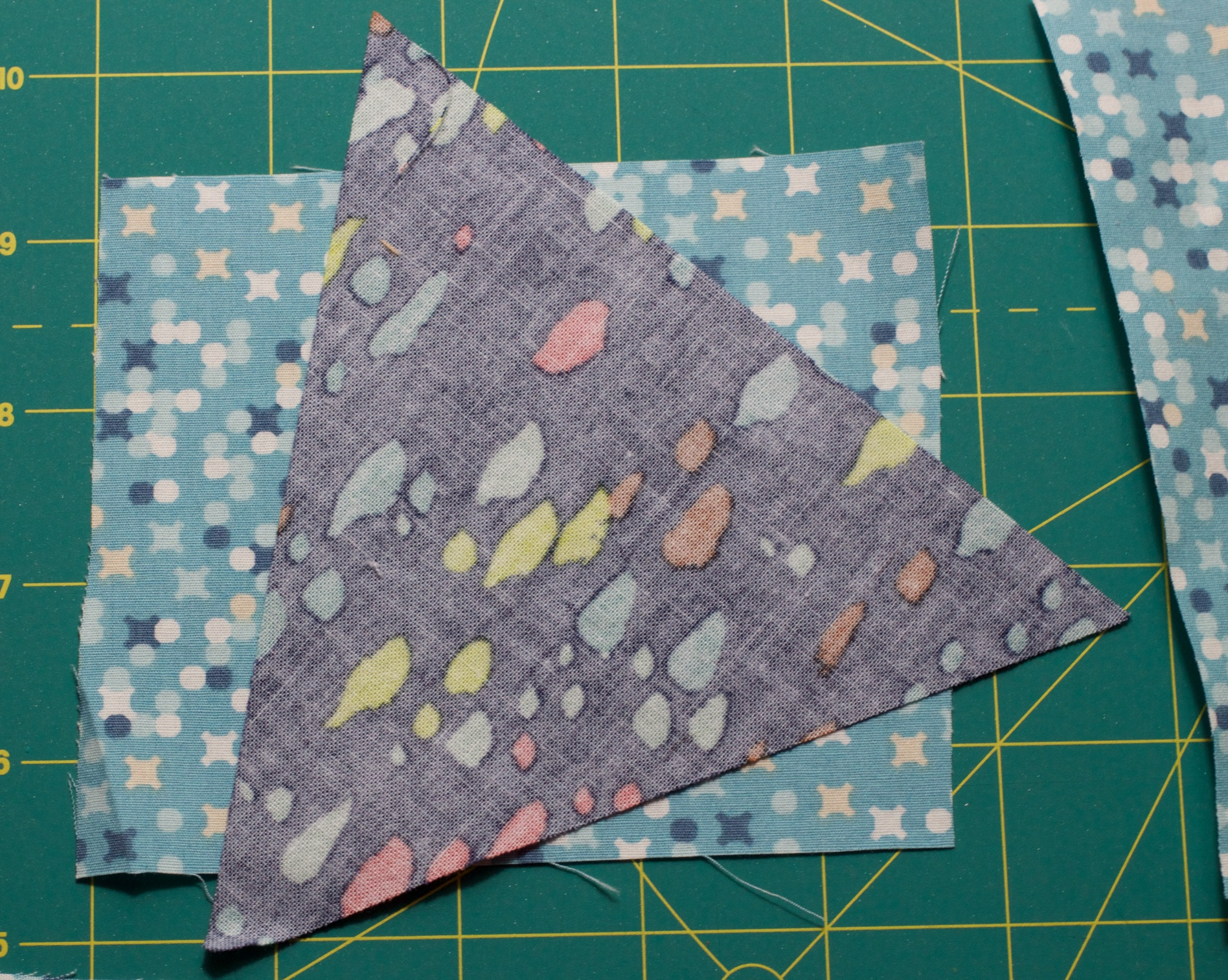 Step 3: place your points and background together and sew