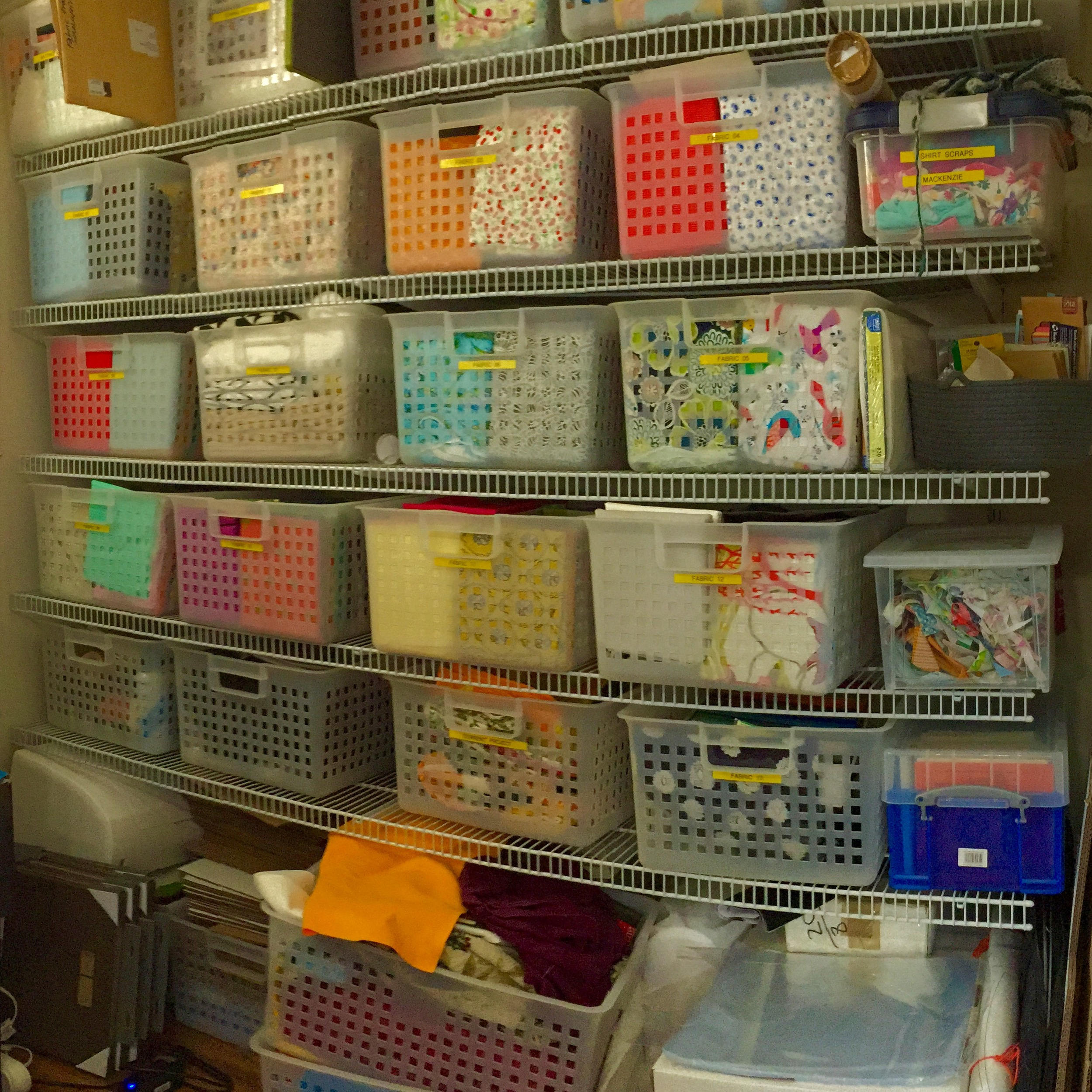 My old fabric storage system