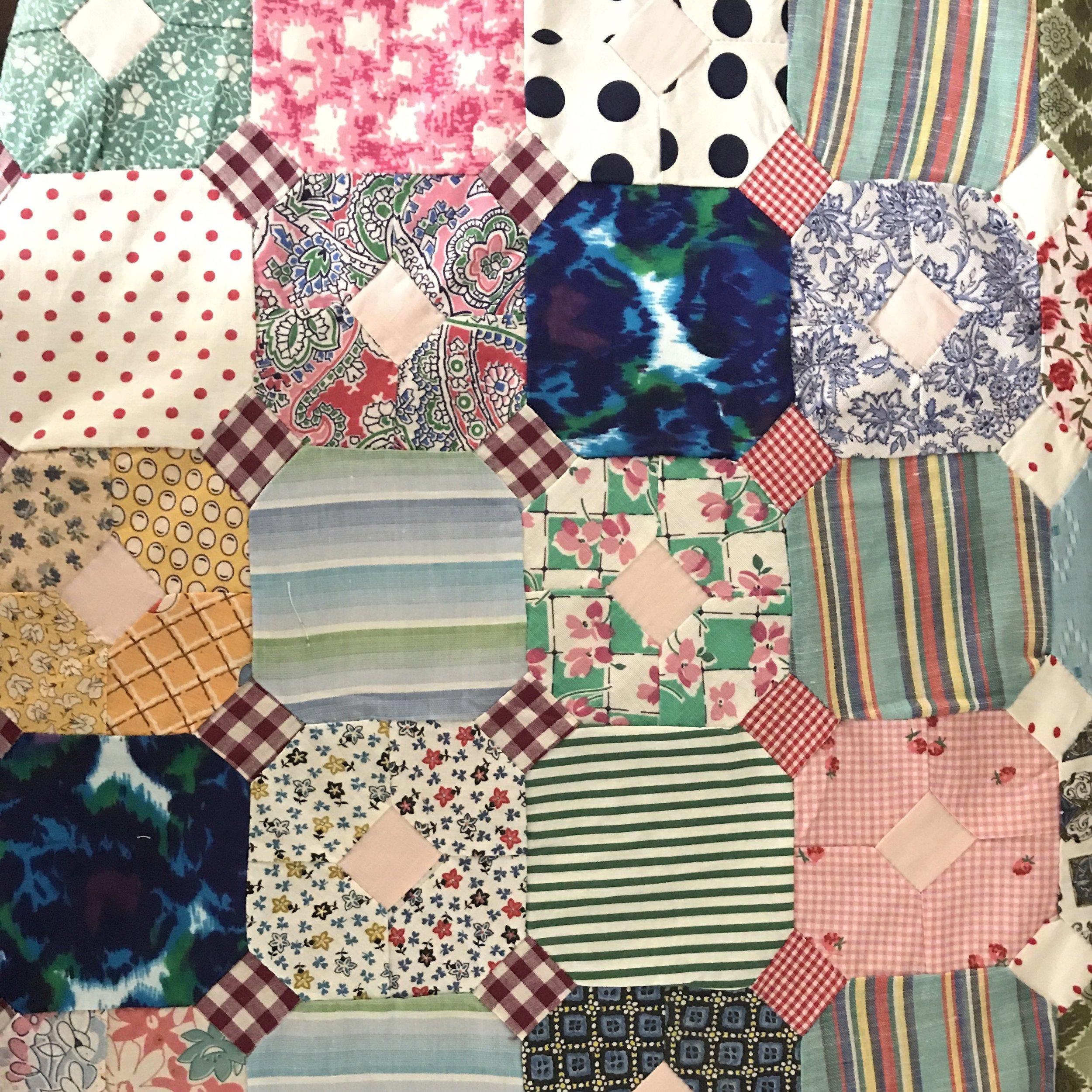 Part of Thelma's original quilt top.