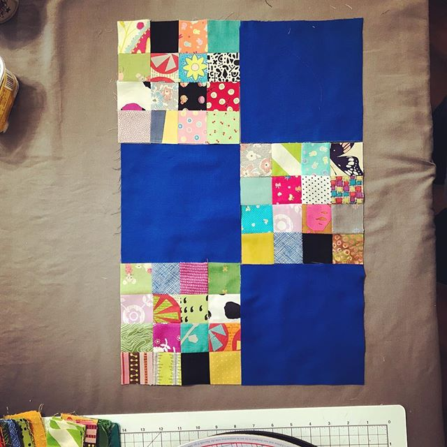 Six blocks for @stitchedincolor 's January quilt for #dgslovecircle  #quiltbee #charityquilt #beeblocks #quilting #dogoodstitches #quiltingbee