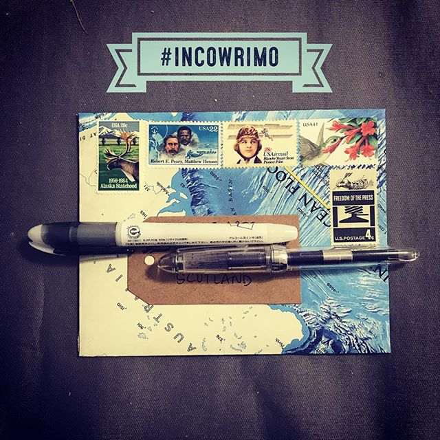 I have selected my first victim. #incowrimo #incowrimo2018 #snailmail