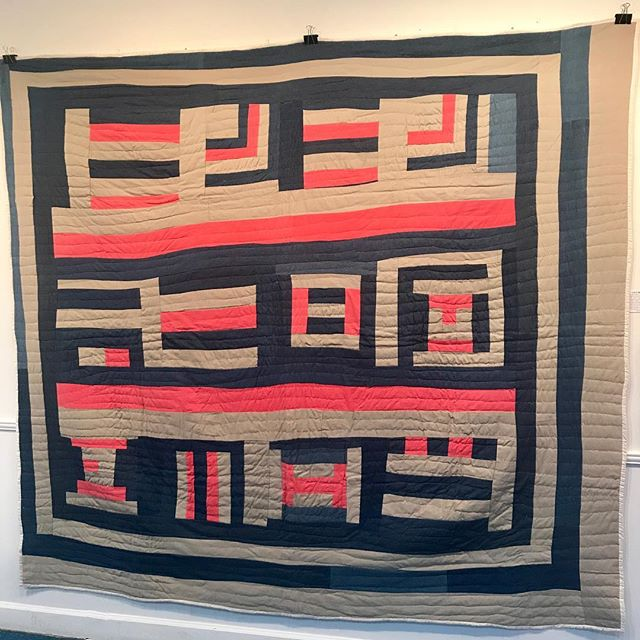 Quilt by Lucy Mingo. Amazing exhibit of quilts and a talk by Janet Dolland tonight, right here in Wilton Manors. #geesbend #geesbendquilts #inspirational